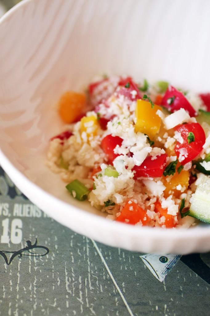 Cauliflower Salad with Vegetables Recipe