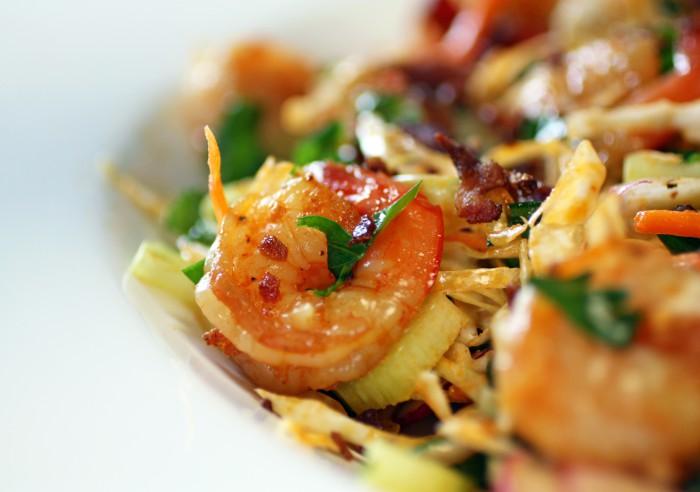 Spring Slaw with Smoked Shrimp Recipe