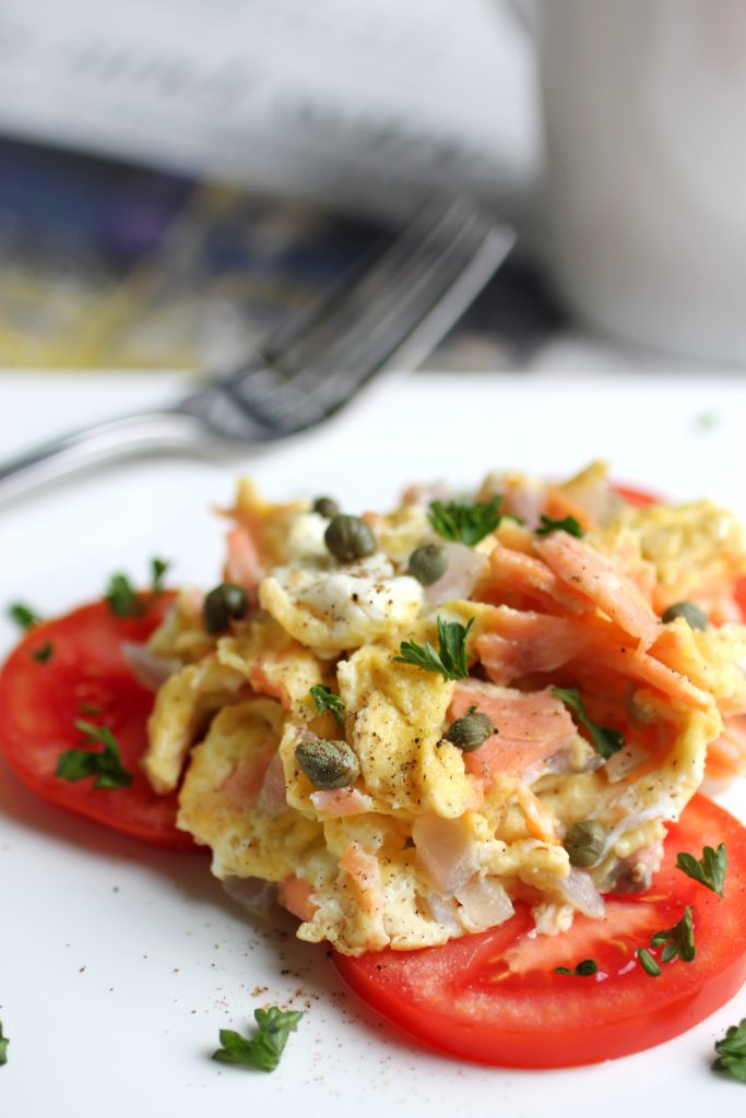 Scrambled Eggs with Lox and Capers Recipe