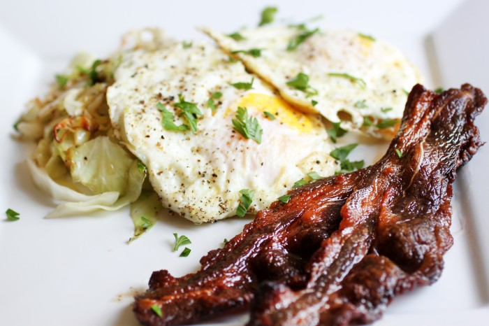 Beef Bacon and Eggs Recipe
