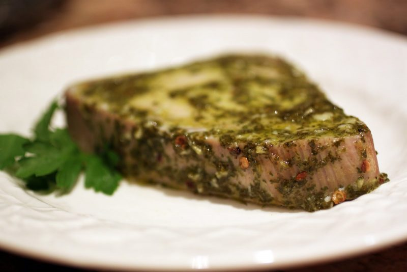 Baked Tuna with Chimichurri Marinade Recipe