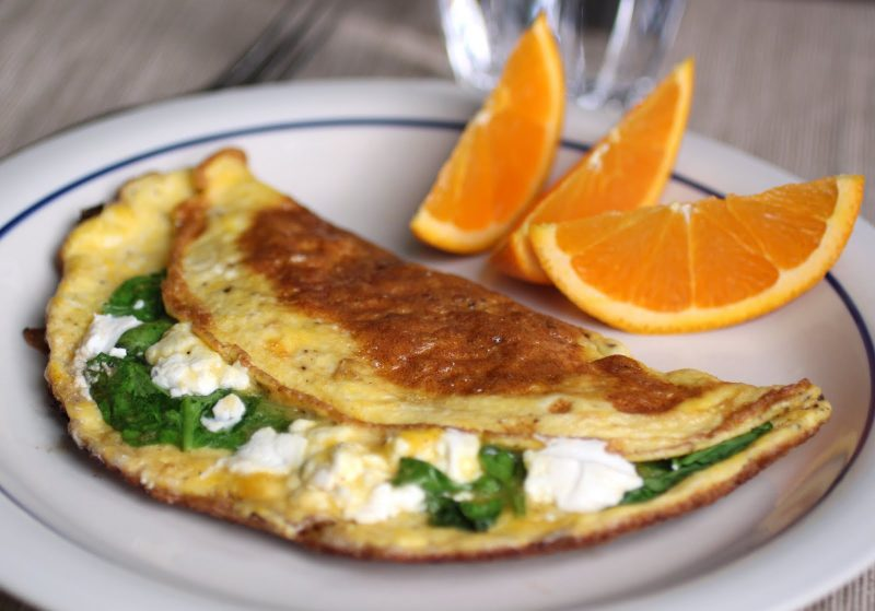 Spinach and Goat Cheese Omelet Recipe