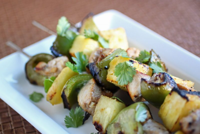 Pineapple Chicken Skewers Recipe