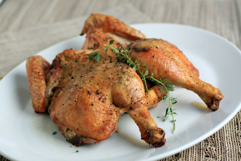 Butterflied Roast Chicken Recipe