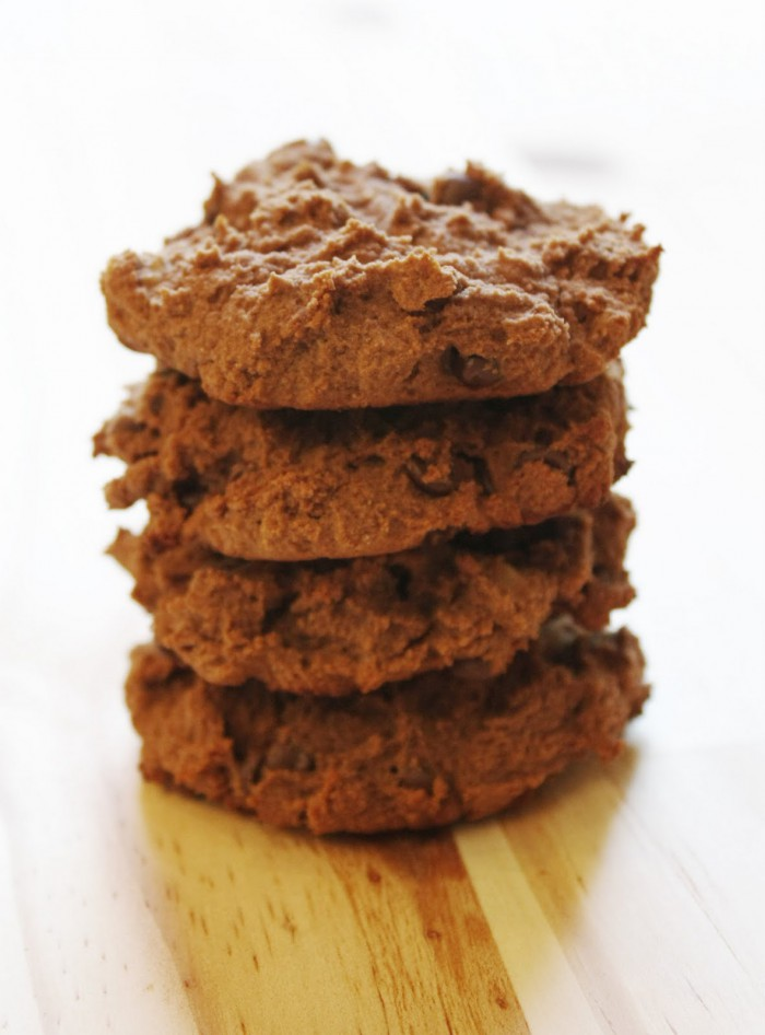 Double Dark Chocolate Chip Cookies with Chopped Walnuts Recipe