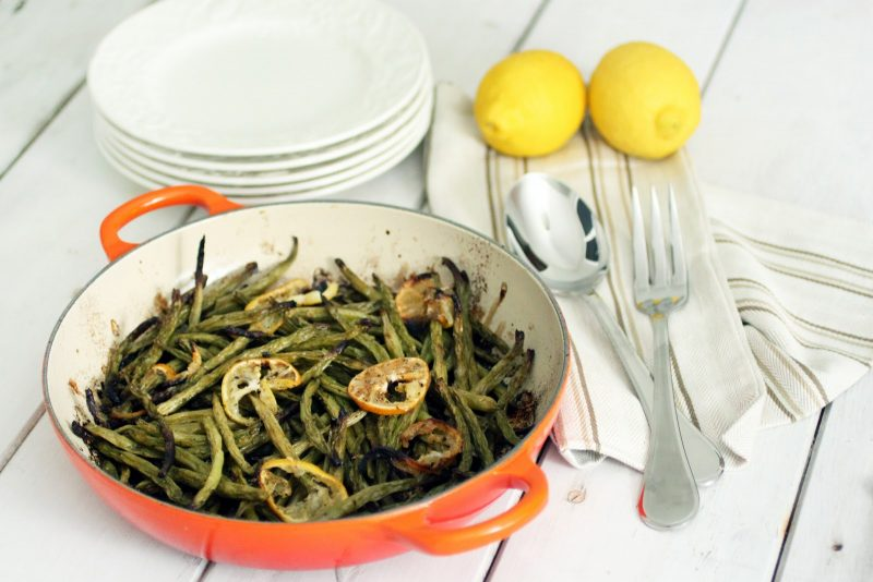 Lemon Roasted Green Beans Recipe