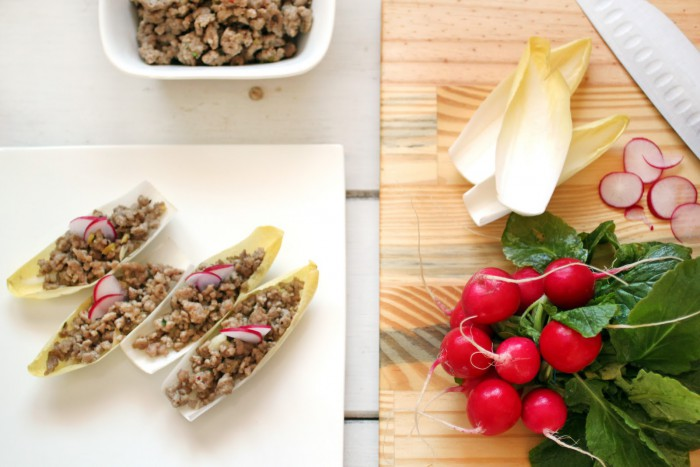 Ground Pork in Endive Boats Recipe