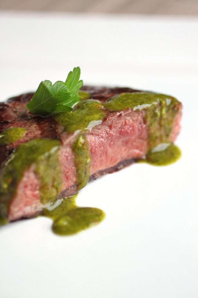 Strip Steak with Chimichurri Recipe