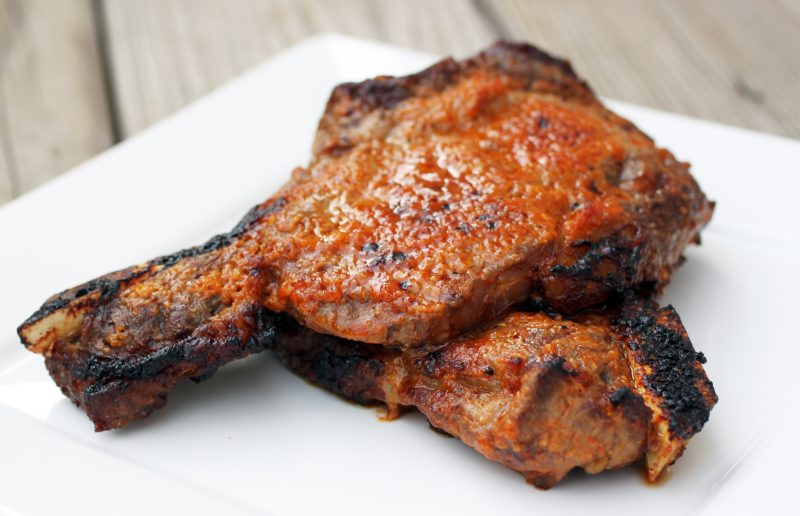 Smoky Lime Rib Steaks Recipe
