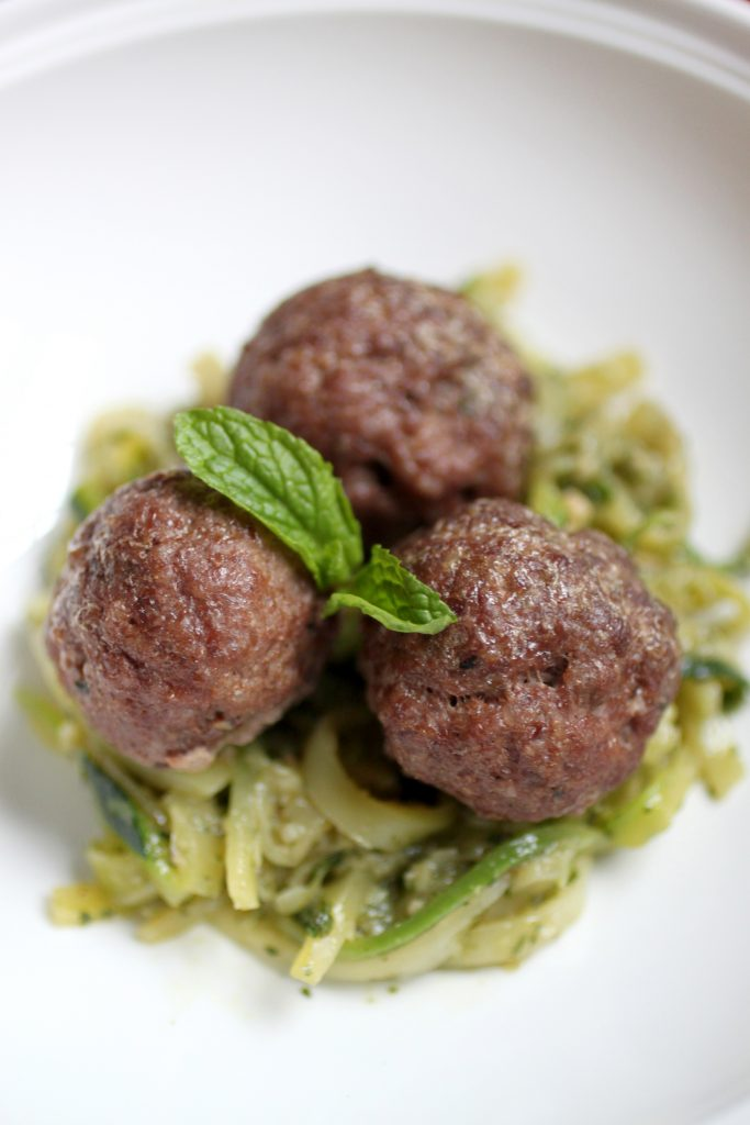 Lamb Meatballs with Mint Pesto Recipe