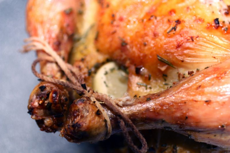 Lemon Garlic Roasting Chicken Recipe
