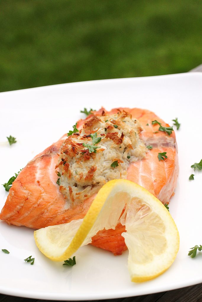 Crab-Stuffed Salmon Recipe