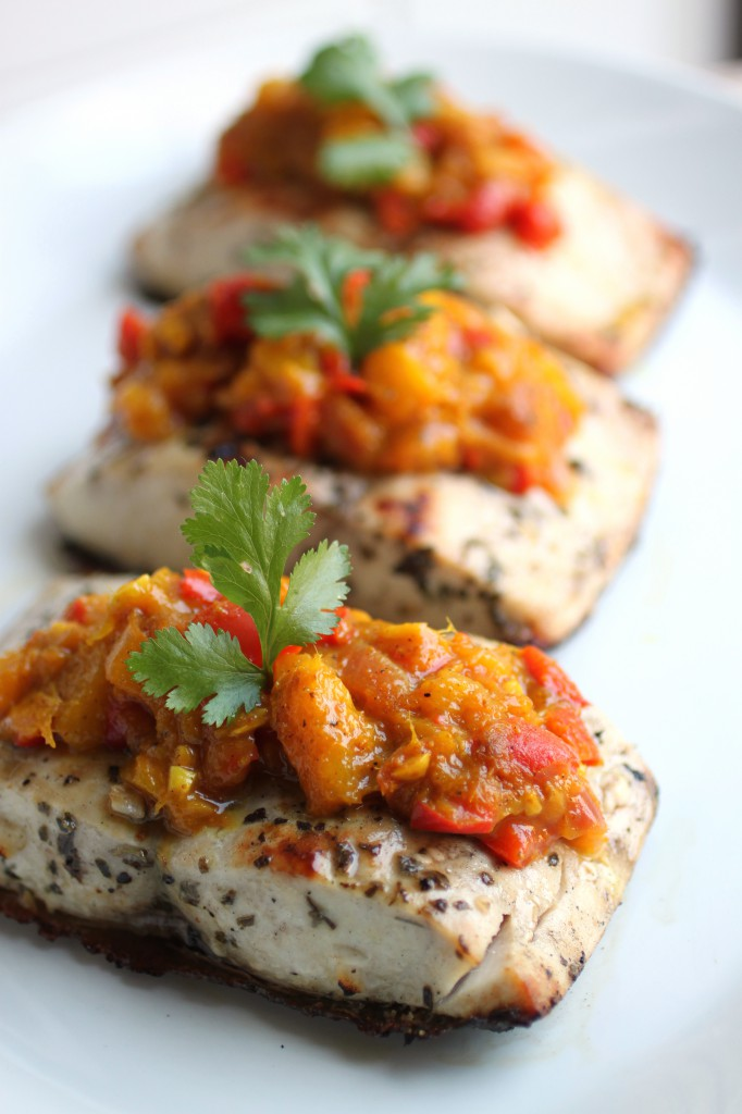 Grilled Mahi Mahi with Mango Chutney - Primal Palate | Paleo Recipes