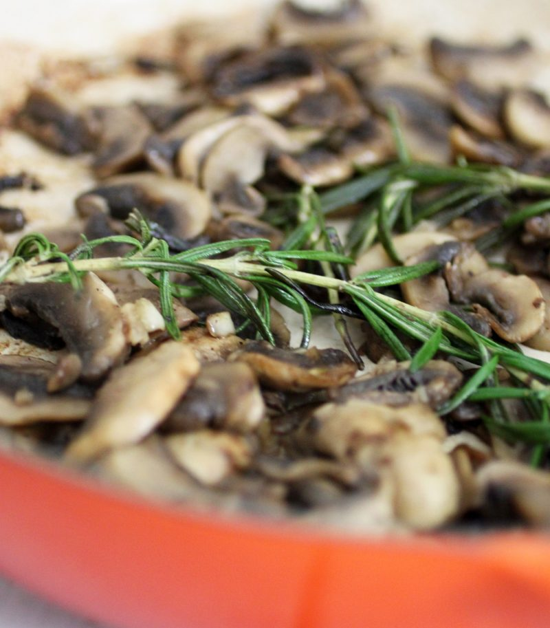 Sauteed Mushrooms with Rosemary and Garlic Recipe