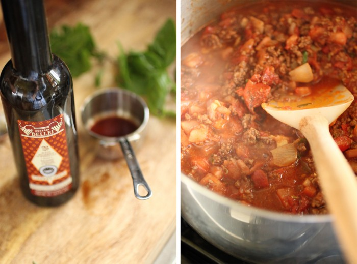 paleo pasta with meat sauce