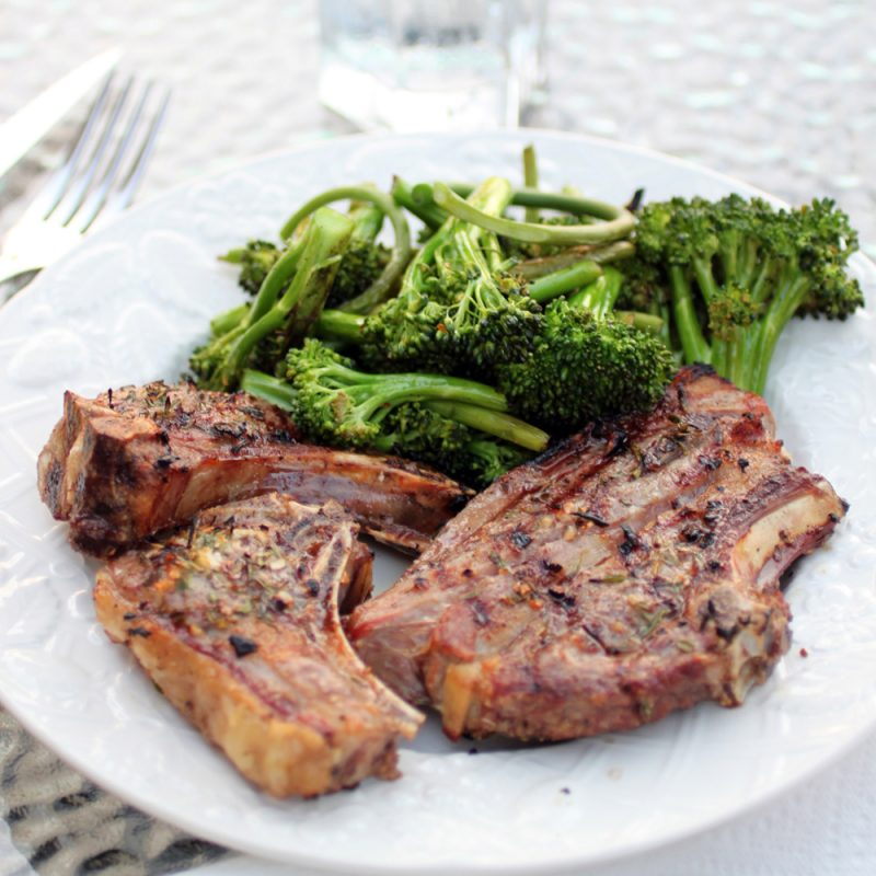 Grilled Goat Chops with Winter Savory and Garlic Recipe
