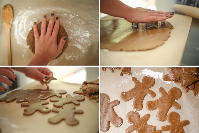 Paleo Gingerbread Men - Process