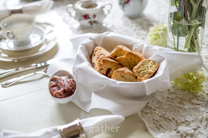 Paleo Scones with Apple Butter