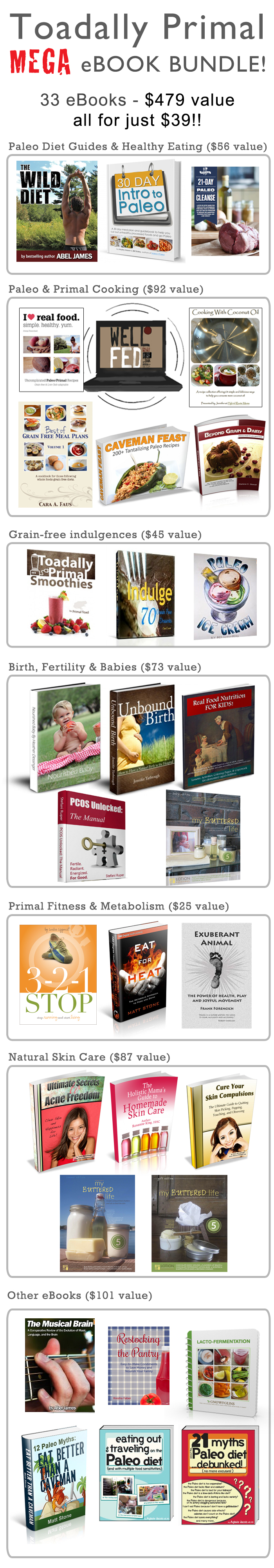 Primal Toad Ebook Bundle