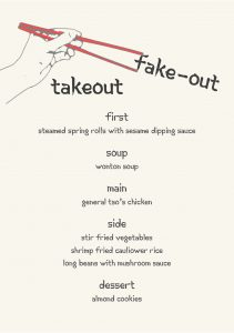 Gather Menu - Take Out Fake-out