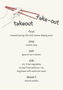 Gather Menu - Take Out Fake-out