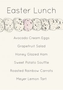 Gather Menu - Easter Lunch