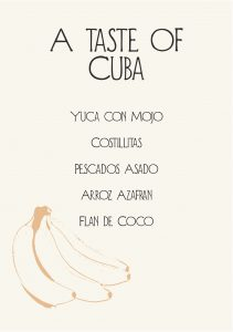 Gather Menu - a taste of Cuba