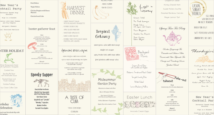 Gather Cookbook End Papers