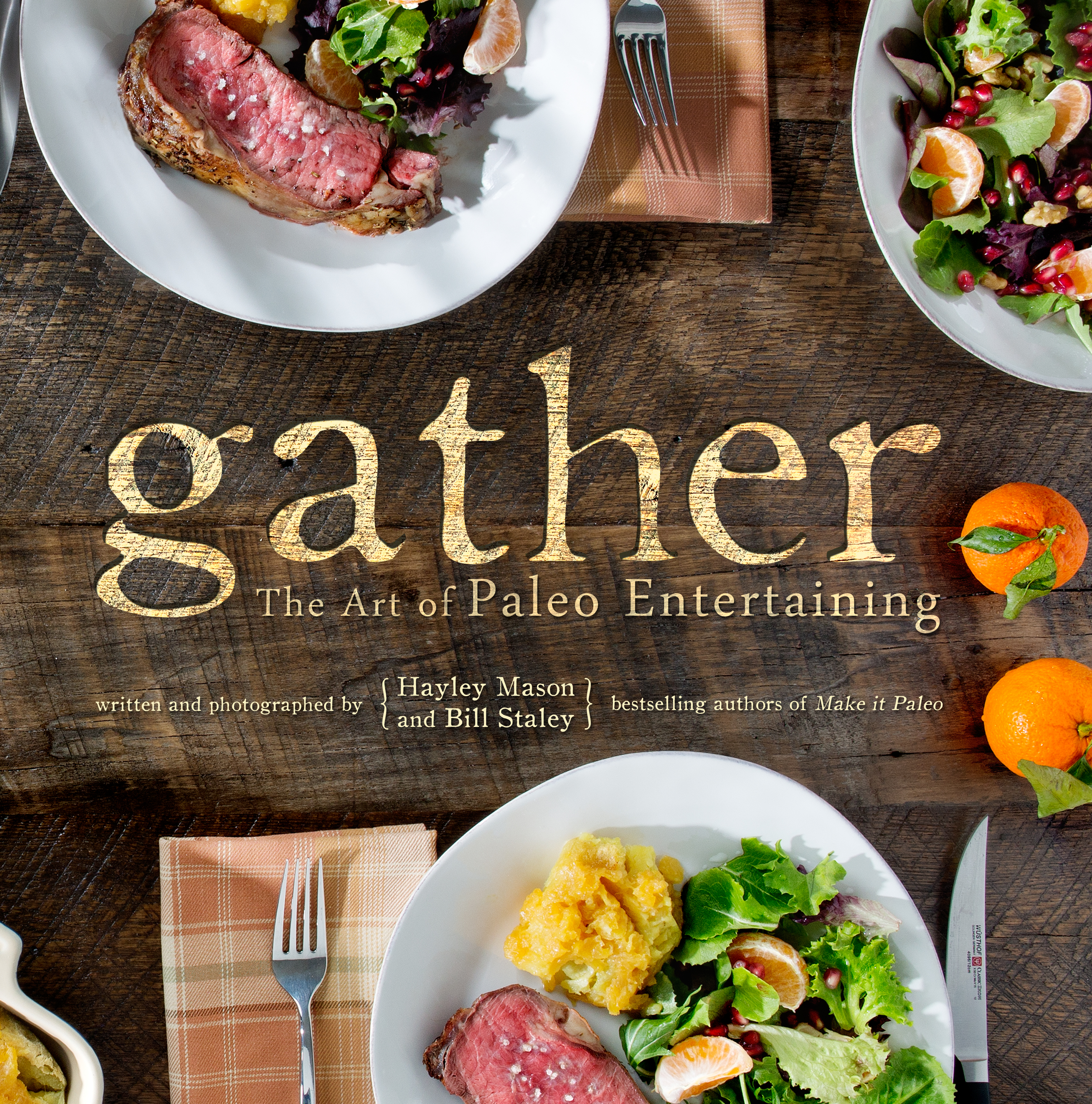 Modern Recipe Book Cover ~ Gather the art of paleo entertaining our next cookbook