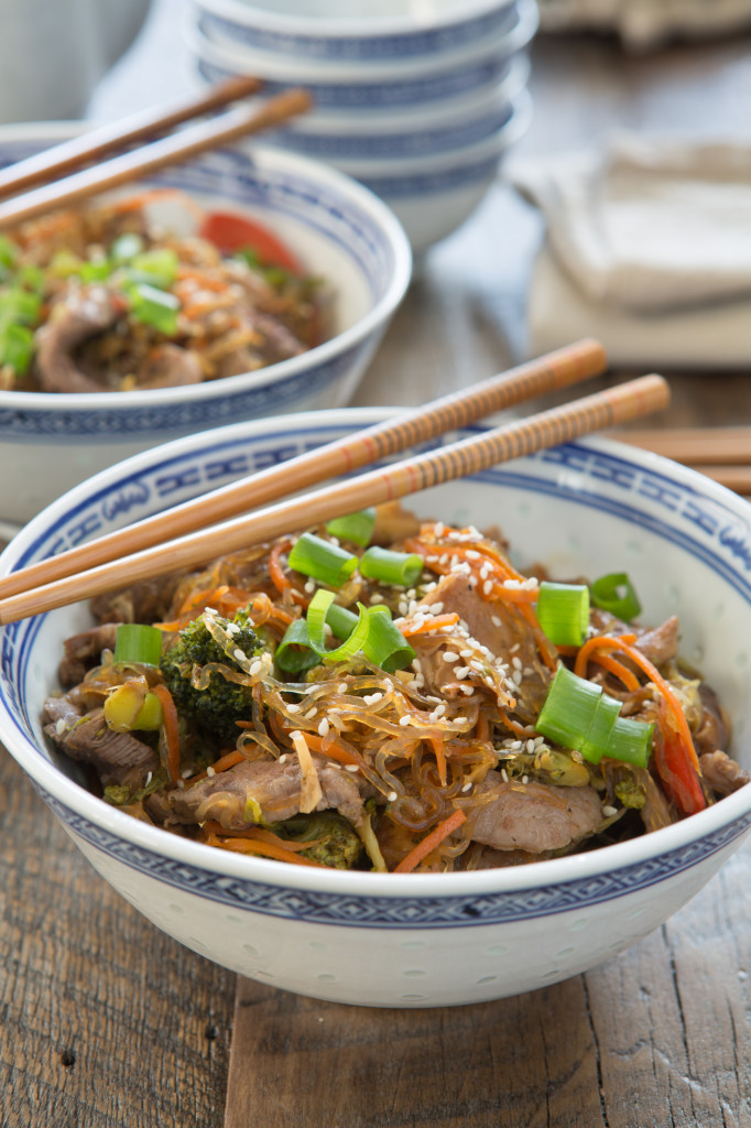 Korean Beef and Vegetable Noodle Bowl Recipe