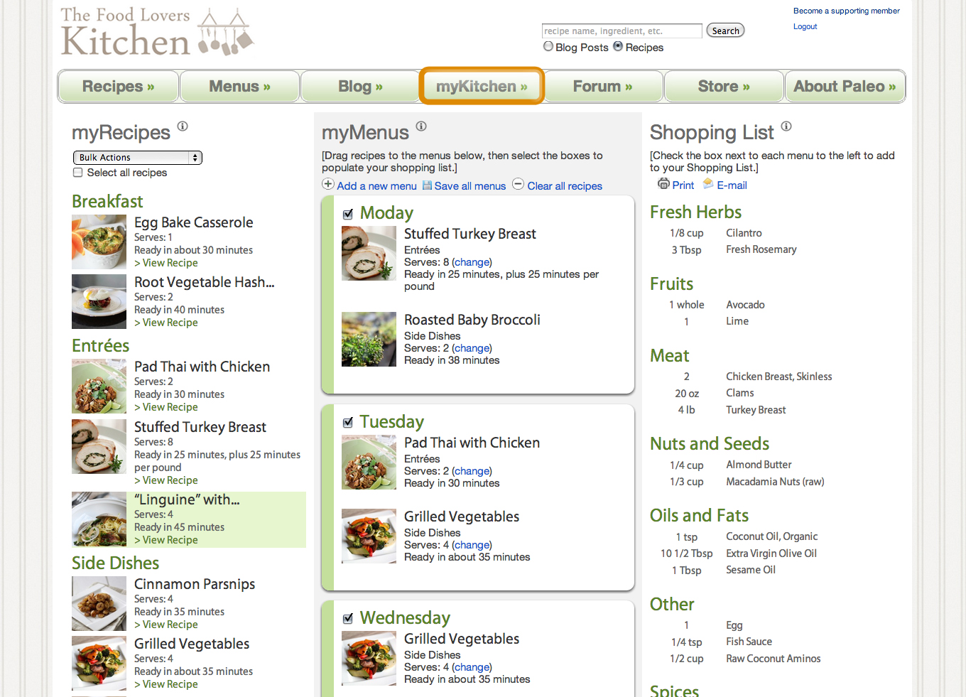 Free Online Paleo Meal Planner And Shopping List Generator