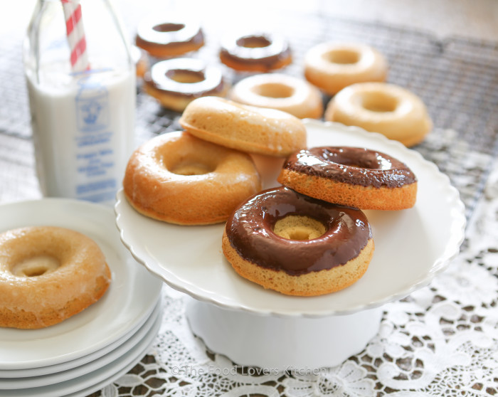 paleo glazed and chocolate donuts