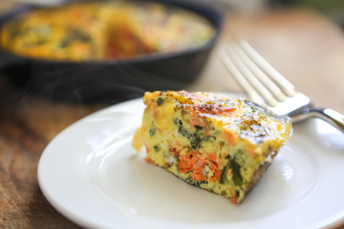... That's Paleo? – Grilled Salmon and Asparagus Frittata - Primal