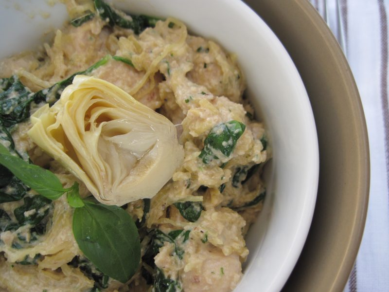 Artichoke Lemon Pesto Chicken Pasta Recipe