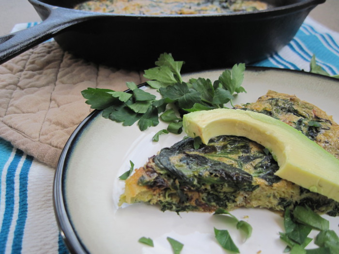 Brussels Sprouts an Spinach Truffle Frittata Recipe