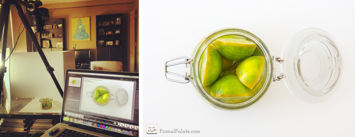 fermented limes setup shot