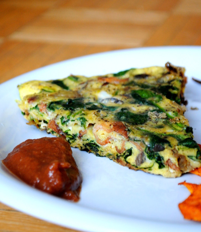Spinach and Bacon Frittata Recipe