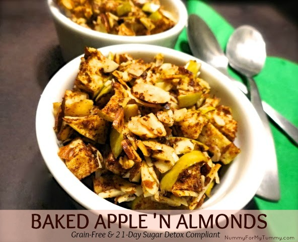 Baked Apple 'n Almonds Recipe