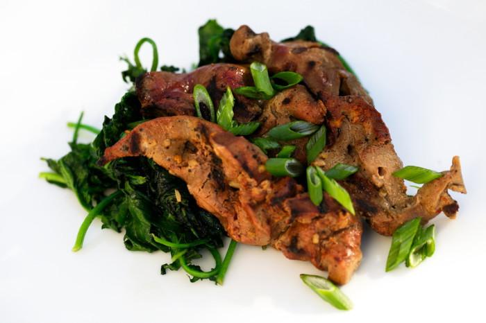 Grilled Iscas com Elas-Portuguese Marinated Pig Liver Recipe