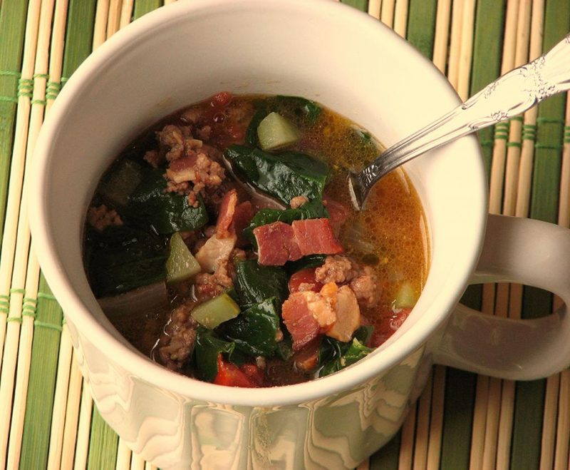 Loaded Bacon Burger Soup Recipe
