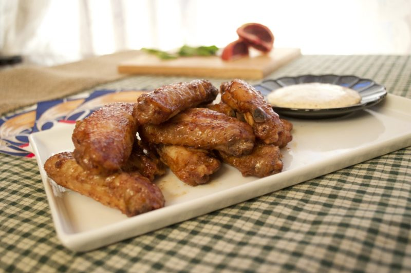 Spicy n' Sweet Blood Orange Wings with Mint Dipping Sauce Recipe