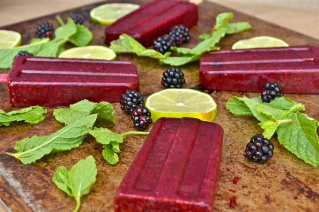 Wild Blackberry Mint Popsicles Recipe