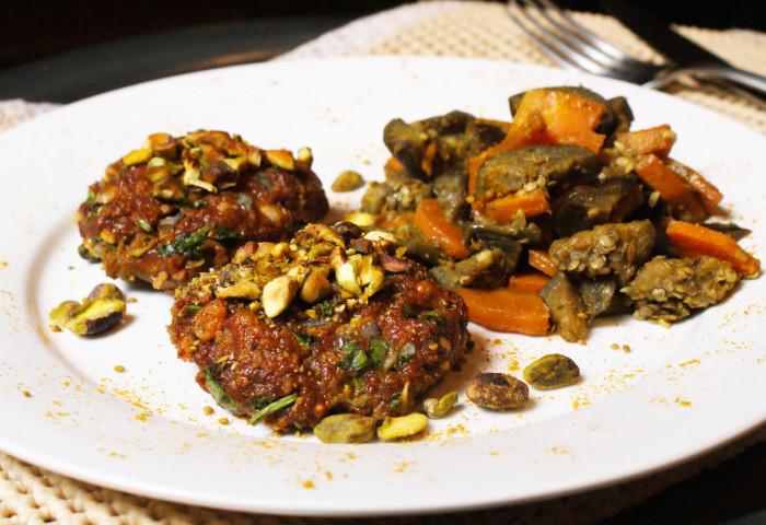 Moroccan Spiced Lamb Burgers with Pistachio Crust Recipe
