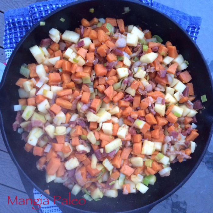 Sweet Potato, Bacon, Apple Hash Recipe