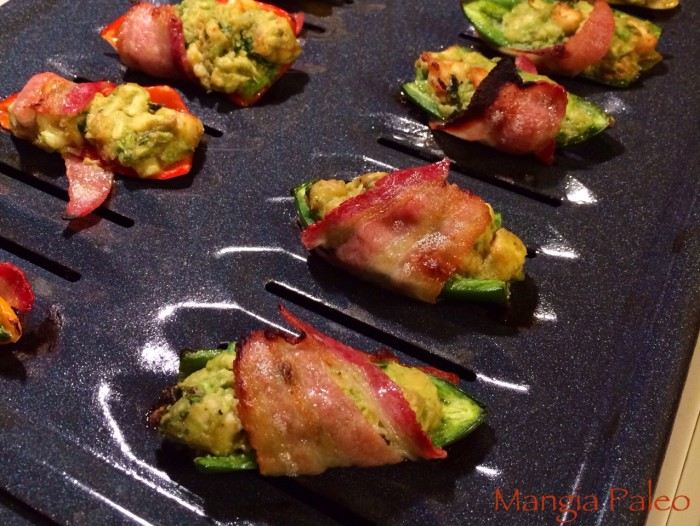 Bacon Wrapped Shrimp and Avocado Jalapeño Poppers Recipe