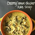Creamy lemon chicken Kale soup