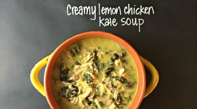 Autoimmune Paleo Creamy Lemon Chicken Kale Soup Recipe