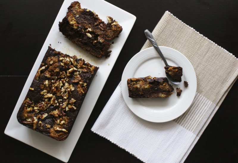 Chocolate Swirl Banana Bread with Pecan Streusel Recipe