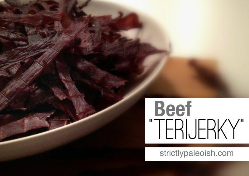 """Beef """"TeriJerky"""" Recipe"""