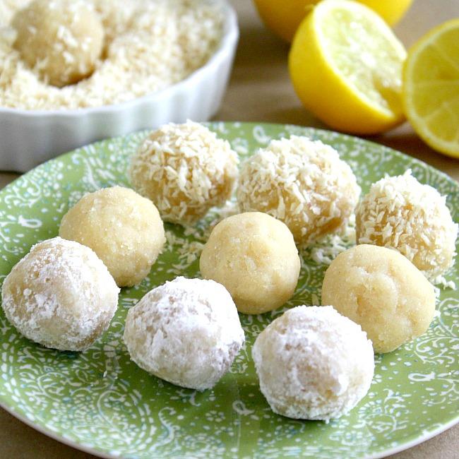 Paleo lemon meltaway balls